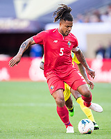 CLEVELAND, OH - JUNE 22: Roman Torres #5 during a game between Panama and Guyana at FirstEnergy Stadium on June 22, 2019 in Cleveland, Ohio.