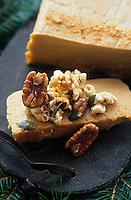 """Amérique/Amérique du Nord/Canada/Quebec/La Baie : Terrine de citrouille au maïs souflé - Recette amérindienne de Michel Lambert de l'auberge """"La Maison de la Rivière"""""""