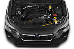 Car Stock 2020 Subaru Crosstrek Premium 5 Door SUV Engine  high angle detail view