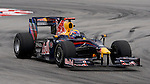 04 Apr 2009, Kuala Lumpur, Malaysia --- Red Bull Racing driver Mark Webber of Australia steers his car during the third practice session ahead the 2009 Fia Formula One Malasyan Grand Prix at the Sepang circuit near Kuala Lumpur. Photo by Victor Fraile --- Image by © Victor Fraile / The Power of Sport Images