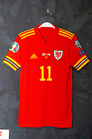 The new Wales home shirt is displayed at The Art of the Wales Shirt Exhibition at St Fagans National Museum of History in Cardiff, Wales, UK. Monday 11 November 2019