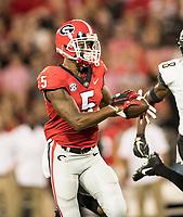 Athens, Georgia - October 6, 2018: Sanford Stadium, the number 2 ranked University of Georgia Bulldogs vs Vanderbilt University Commodores.