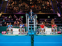 Februari 09, 2015, Netherlands, Rotterdam, Ahoy, ABN AMRO World Tennis Tournament, Jesse Huta Galung (NED) / Glenn Smits (NED) - Aisam-Ul-Hap Qureshi (PAK) / Nedad Zimonjic (SRB)<br /> Photo: Tennisimages/Henk Koster