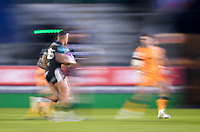 1st May 2021; Recreation Ground, Bath, Somerset, England; European Challenge Cup Rugby, Bath versus Montpellier; Anthony Watson of Bath runs at the Montpellier defence
