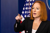 White House Press Secretary Jen Psaki answers questions from reporters during the daily press briefing at the White House in Washington, D.C. on July 3, 2021.<br /> Credit: Samuel Corum / CNP /MediaPunch