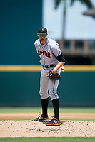 Jupiter Hammerheads relief pitcher Parker Bugg (29) looks in for the sign during the first game of a doubleheader against the Bradenton Marauders on May 27, 2018 at LECOM Park in Bradenton, Florida.  Bradenton defeated Jupiter 13-5.  (Mike Janes/Four Seam Images)