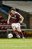 Jak McCourt of Northampton Town during the The Checkatrade Trophy match between Northampton Town and Wycombe Wanderers at Sixfields Stadium, Northampton, England on 30 August 2016. Photo by David Horn / PRiME Media Images.
