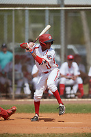 Canada Junior National Team Leroux Brando (11) bats during an exhibition game against the Philadelphia Phillies on March 11, 2020 at Baseball City in St. Petersburg, Florida.  (Mike Janes/Four Seam Images)