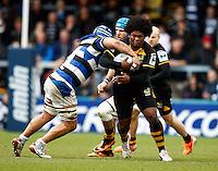 Photo: Richard Lane/Richard Lane Photography. London Wasps v Bath Rugby. Amlin Challenge Cup Semi Final. 27/04/2014. Wasps' Ashley Johnson attacks.
