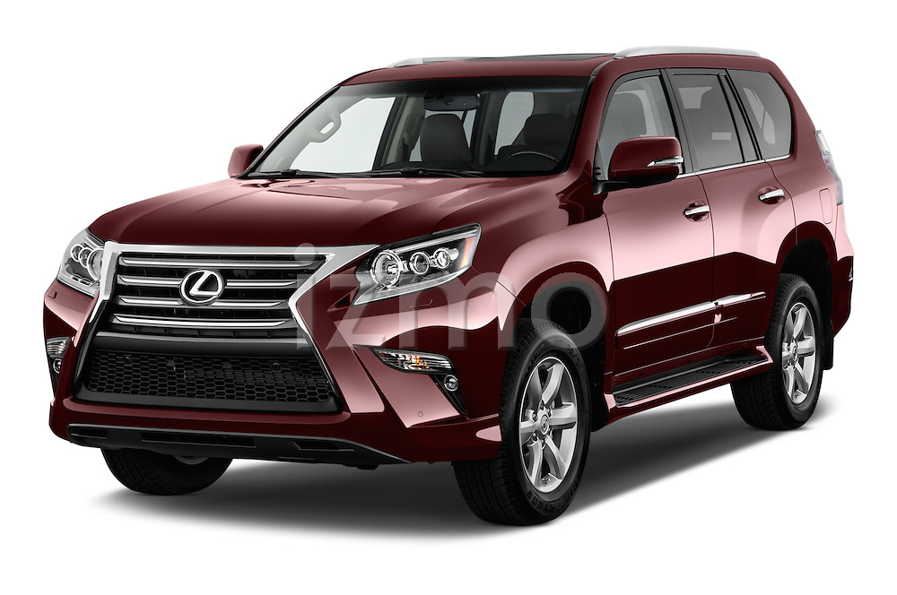 2018 Lexus GX 460 5 Door SUV Angular Front stock photos of front three quarter view