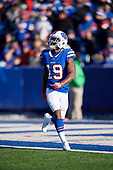 Buffalo Bills Isaiah McKenzie (19) fields a kick during an NFL football game against the New York Jets, Sunday, December 9, 2018, in Orchard Park, N.Y.  (Mike Janes Photography)