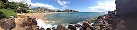 Black Rock Beach (Panorama), Kaanapali Beach, Maui, Hawaii, US
