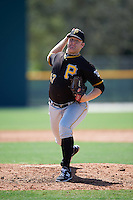 Pittsburgh Pirates pitcher Matt Eckelman (47) during an Instructional League Intrasquad Black & Gold game on September 20, 2016 at Pirate City in Bradenton, Florida.  (Mike Janes/Four Seam Images)