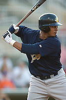 Charleston right fielder Jose Tabata (#39) stands in to take his swings versus Kannapolis at Fieldcrest Cannon Stadium in Kannapolis, NC, Friday, April 28, 2006.