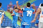 Getafe CF's Mauro Arambarri (l) and Jorge Molina celebrate goal during friendly match. August 10,2019. (ALTERPHOTOS/Acero)