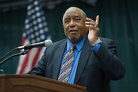 Civil rights leader and original freedom rider Dr. Bernard Lafayette Jr. talks about the marches at Selma and shares memories of Dr. Martin Luther King Jr. at UAA's MLK Student Appreciation Luncheon in the Student Union. Photo by James R. Evans / The Northern Light