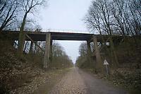 Paris-Roubaix 2013 RECON..old railroad bridge over Trouée d'Arenberg.