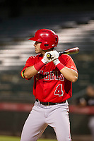 AZL Angels right fielder Francisco Del Valle (4) at bat against the AZL White Sox on August 14, 2017 at Diablo Stadium in Tempe, Arizona. AZL Angels defeated the AZL White Sox 3-2. (Zachary Lucy/Four Seam Images)