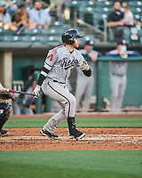 Seth Beer (8) of the Reno Aces at bat against the Salt Lake Bees at Smith's Ballpark on May 6, 2021 in Salt Lake City, Utah. The Aces defeated the Bees 5-4. (Stephen Smith/Four Seam Images)