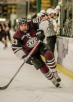 18 December 2016: Union College Dutchman Forward Tyler Hynes, a Junior from Guiderland, NY, in first period action against the University of Vermont Catamounts at Gutterson Fieldhouse in Burlington, Vermont. The Dutchmen defeated their former ECAC hockey rivals 2-1, sweeping their two-game weekend series. Mandatory Credit: Ed Wolfstein Photo *** RAW (NEF) Image File Available ***