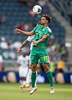 KANSAS CITY, KS - JUNE 26: Terence Vancooten #15 during a game between Guyana and Trinidad