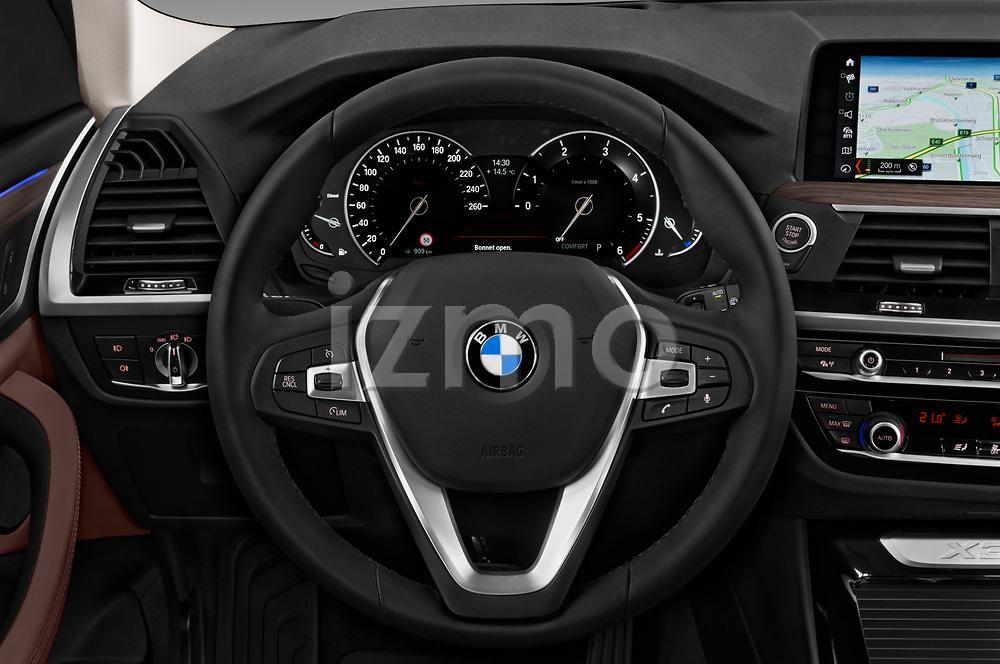 Car pictures of steering wheel view of a 2018 BMW X3 xLine-4wd 5 Door SUV Steering Wheel