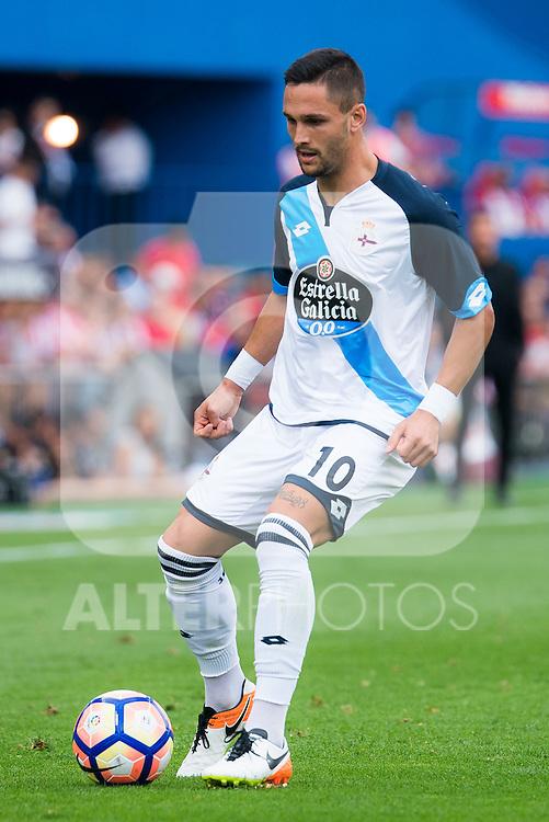 Deportivo de la Coruña's player Florin Andone during a match of La Liga Santander at Vicente Calderon Stadium in Madrid. September 25, Spain. 2016. (ALTERPHOTOS/BorjaB.Hojas)