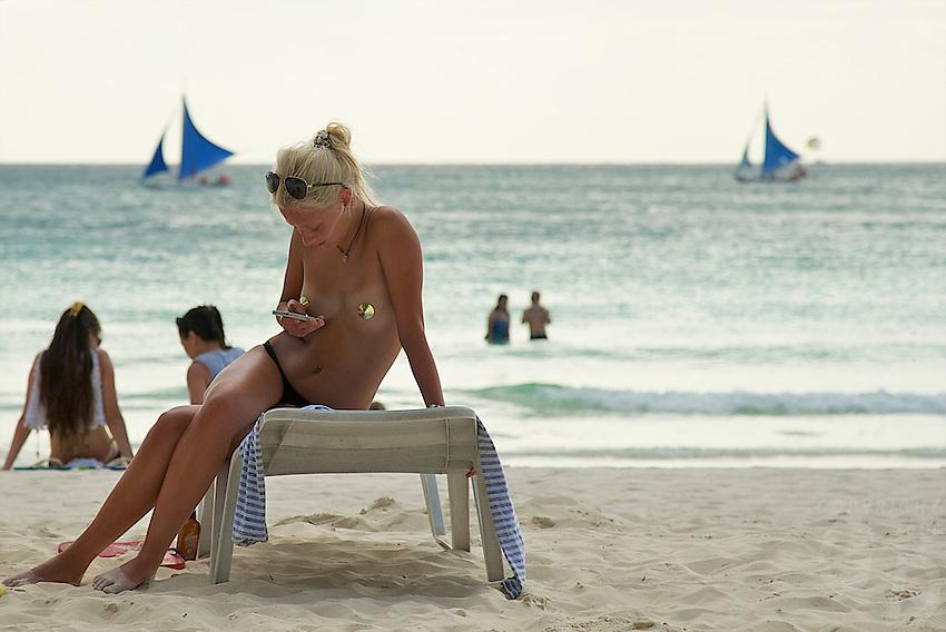 Sexy girl Tourist on Boracay Island, Philippines