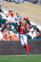 Nebraska Cornhusker shortstop Kyle Bubak against Texas on Sunday March 21st, 2100 at UFCU Dish-Falk Field in Austin, Texas.  (Photo by Andrew Woolley / Four Seam Images)