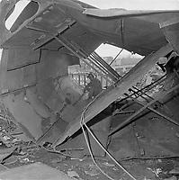 Le chantier maritime de la Davies,a Levis, en octobre 1963<br /> <br /> (date exacte inconnue, entre le 14 et le 30 oct.)<br /> <br /> PHOTO : Agence Quebec Presse<br /> - Photo Moderne