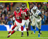 26.10.2014.  London, England.  NFL International Series. Atlanta Falcons versus Detroit Lions. Falcons' WR Julio Jones [11] in action.