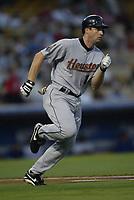 Morgan Ensberg of the Houston Astros during a 2003 season MLB game at Dodger Stadium in Los Angeles, California. (Larry Goren/Four Seam Images)