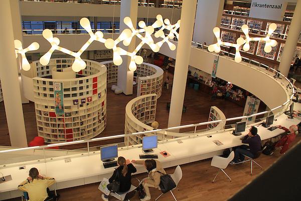 Library or bibliotheek in Amsterdam, Netherlands
