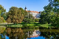 Schloss Wiesenburg und Schlosspark, Wiesenburg, Naturpark Hoher Fläming, Potsdam-Mittelmark, Brandenburg, Deutschland