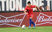 St. Louis, MO - SEPTEMBER 10: Nick Lima #2 of the United States moves with the ball during their game versus Uruguay at Busch Stadium, on September 10, 2019 in St. Louis, MO.