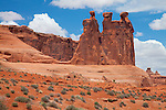 Arches National Park, UT <br /> Three Gossips and Courthouse Towers