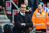 Tuesday, 7 May 2013<br /> <br /> Pictured: Roberto Martinez, Manager of Wigan Athletic<br /> <br /> Re: Barclays Premier League Wigan Athletic v Swansea City FC  at the DW Stadium, Wigan