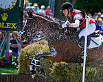 April 26, 2014: FOXWOOD HIGH, ridden by Selena O'Hanlon (CAN), competes in the Cross County Test at the Rolex Kentucky 3-Day Event at the Kentucky Horse Park in Lexington, KY  Scott Serio/ESW/CSM