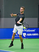 Rotterdam,Netherlands, December 15, 2015,  Topsport Centrum, Lotto NK Tennis, Yannick Zenden (NED)<br /> Photo: Tennisimages/Henk Koster