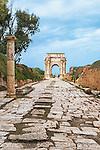 The Arch of Septimius Severus in Leptis Magna in Libya.