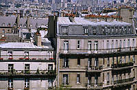 Balconies of apartment buildings on Île Saint-Louis, Paris, France.