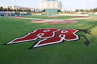 September 9th,2010 Rough Riders logo during the MiLB Texas League playoff game between the Midland Rockhouds and the Frisco Rough Riders at Dr. Pepper field in Frisco Tx.