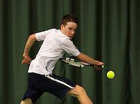 Rotterdam, The Netherlands, 07.03.2014. NOJK ,National Indoor Juniors Championships of 2014, Jasper Vanheste (NED)<br /> Photo:Tennisimages/Henk Koster
