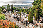 The ancient cemetery of Saint-Paul-de-Vence, containing mausoleums of the old families of the town and also the tomb of the great artist Marc Chagall. The top of the rectangular stone tomb is strewn with small stones in the ancient Jewish tradition, some bearing loving written tributes to the great master.