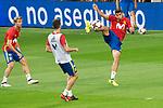 Ignacio Monreal, Marc Bartra and Alvaro Morata during Spain training session at Santiago Bernabeu Stadium in Madrid, Spain September 01, 2017. (ALTERPHOTOS/Borja B.Hojas)