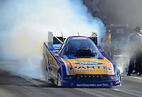 Jun. 15, 2012; Bristol, TN, USA: NHRA funny car driver Bob Tasca III during qualifying for the Thunder Valley Nationals at Bristol Dragway. Mandatory Credit: Mark J. Rebilas-