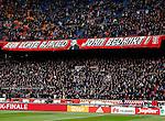 Nederland, Amsterdam, 7 februari 2016<br /> Eredivisie<br /> Seizoen 2015-2016<br /> De Klassieker <br /> Ajax-Feyenoord<br /> De F-SIDE heeft een spandoek opgehangen met de tekst: 'Een echte Ajacied, John bedankt!'. Dit in verband met het afscheid van John Heitinga, die een punt achter zijn voetbalcarriere heeft gezet.