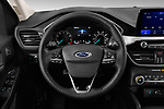 Car pictures of steering wheel view of a 2020 Ford Escape SEL 5 Door SUV