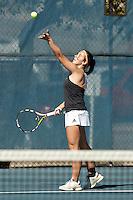 SAN ANTONIO, TX - JANUARY 30, 2016: The University of Texas at San Antonio Roadrunners defeat the St. Mary's University Rattlers 6-1 at the UTSA Tennis Center. (Photo by Jeff Huehn)