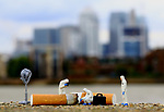 Pictured: CSI London<br /> <br /> Tiny figurines give a new perspective on everyday objects as they are posed interacting with them in their miniature world.  Artist Roy Tyson creates witty and intriguing imagery with customised miniature figures, under the name Roy's People.<br /> <br /> Since 2012, he has been photographing his miniature world on the streets of London and beyond.  SEE OUR COPY FOR DETAILS.<br /> <br /> Please byline: Roy Tyson/Roy's People/Solent News<br /> <br /> © Roy Tyson/Roy's People/Solent News & Photo Agency<br /> UK +44 (0) 2380 458800